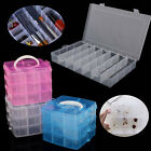 Home Plastic Clear Jewelry Bead Organizer Box Storage Container Case Craft Uk