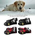 4pcs Pet Dog Shoes Reflective Waterproof Boot Small Dog Outdoor Anti-slip Shoes