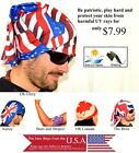 Scarf International Head Wear Blue Red White SPF 30 Scalp Protection British