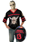 Brand New Friday the 13th Jason Hockey Jersey and  Mask Adult Halloween Costume