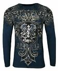Xtreme Couture by AFFLICTION Men THERMAL T-Shirt LIBERTARIAN Biker MMA Gym $58 image