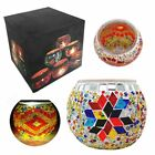 Glass Mosaic Candle Holder Handmade Votive Turkish Oriental Decor Many STYLES