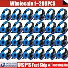 LOT 3.5mm Gaming Headset Mic LED Headphones Stereo Surround for PS3 PS4 PC OY