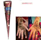 Natural Herbal Henna Cones, Henna Temporary Tattoo Stencils Nozzle+ Bottle Tools