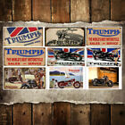 Triumph Motorcycle Home Decor Tin Sign Bar Pub Garage Decorative Metal Sign Art