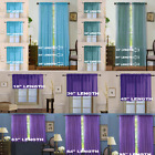 Kyпить 2 Piece Beautiful Sheer Window Elegance Curtains drape panels treatment   на еВаy.соm