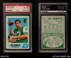 1968 Topps #65 Joe Namath Jets PSA 8 - NM/MT