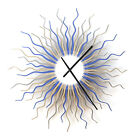 Medusa arctic - organic wooden wall clock with the colors of ice by ardeola