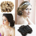 Ladies Wave Curly Combs Clip In Hair Bun Chignon Piece Updo