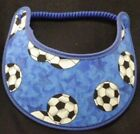 SOCCER BALL SUNVISORS WITH TRIM IN CHOICE OF COLOR ONE SIZE FITS ALL