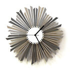 The Sirius - elegant wooden wall clock in shades of silver / gray by ardeola