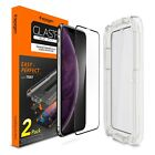 iPhone XS/XS MAX/XR Screen Protector [Glass FC] Spigen® EZ FIT Tray Cover [2 PK]