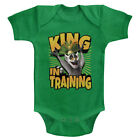 Madagascar King In Training  Baby Romper Onezies 6-24 Month