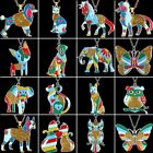 Fashion Colorful Printing Butterfly Dog Cat Owl Pendant Necklace Womens Jewelry