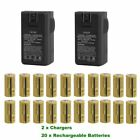 Lot 2500mAh 16340 CR123A 3.7V Rechargeable Batteries Lithium Battery forCamera W