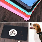 Silicone Pet Food Mat Non-slip Feeding Dog Cat Water Bowl Tray Placemat Gray Red