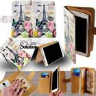 For Samsung Galaxy Phones  - Leather Wallet Card Stand Flip Case Cover