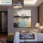 Chinese Style Hand Painted Swan Abstract Wall Art Canvas Paintings Home Decor