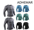 Autumn Winter Boys Men T-Shirt Compression Base Layer Long Sleeve Sports Fitness