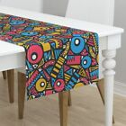Table Runner Geometric Shapes Abstract Mod Retro Modern Jumbo Cotton Sateen