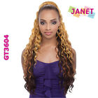Janet Collection Synthetic Noir Everytime Drawstring Ponytail - Blackberry