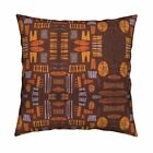 Retro Tiki Vintage Island Throw Pillow Cover w Optional Insert by Roostery