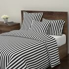Black And White Mod Retro Classic Geometric Sateen Duvet Cover by Roostery
