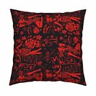 Tiki Polypop Retro Hawaiian Throw Pillow Cover w Optional Insert by Roostery
