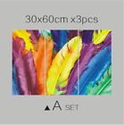 Colorful Feathers Color Pen Fresh Look Modern Flower Canvas Painting Wall Art