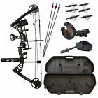SAS Scorpii 55Lb Compound Bow Travel Package with Arrows Hard Case Loaded