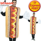 CA809 Mens Hot Dog Funny Food Sausage Fancy Humour Halloween Bucks Hens Costume