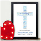 Christening Day Personalised PINK or BLUE Cross Gifts Baby Girl Boy Keepsakes