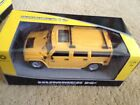 Hummer H2 Red, Yellow, or Black 1:24 Model Car Braha Friction