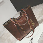 Women Capacity Vintage Tassel Leather Handbag Crossbody Shoulder Tote Bag