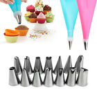 Silicone DIY Icing Piping Cream Pastry Bags +14Nozzle Sets Cake Decorating Tools