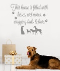 This Home Is Filled With Dogs Wall Sticker Wall Chick Decal Art Sticker Quote