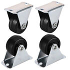 1/1.25/1.5 Inch Fixed Casters Wheels Rubber Top Plate Mounted Caster Wheel