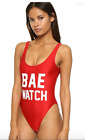 Private Party Women`s Swimwear Red BAE Watch One Piece Swimsuit NWT