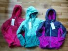 Внешний вид - NWT COLUMBIA GIRLS FLUFFY FLEECE HYBRID FULL ZIP JACKET S 7/8 PINK PURPLE TEAL