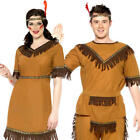 Red Brave Indian Adults Fancy Dress National Native American Wild West Costumes