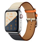 Leather Watch Band Herme Belt Single/Double Tour For Apple Watch Series 4/3/2/1