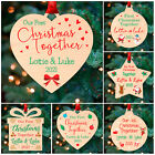 First Christmas Together Couples 1st Xmas PERSONALISED Christmas Tree Baubles