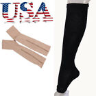 Unisex Zip Sox Compression Sock with Zipper Supports Leg Knee Stockings Open Toe