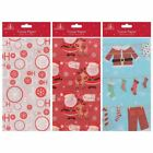 5 15 30 Christmas Xmas Gift Wrap Bag Cute Patterned Tissue Paper Stickers Set