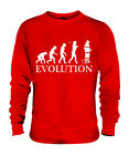 FIREFIGHTER EVOLUTION OF MAN UNISEX SWEATER MENS WOMENS LADIES GIFT FIREMAN