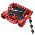 "New TaylorMade Spider Tour Red Sightline Mallet Putter w/ Winn 15"" Red Grip"