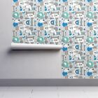 Wallpaper Roll Dog Dogs Pet Pets Animals Gray Whimsical 24in x 27ft