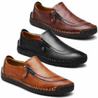 Chic Stylish Mens Zipper Formal Dress Leather Zipper Loafers Slip On Flat Shoes