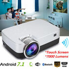 Multimedia HD WiFi Android 7.1 Bluetooth LED Home Cinema Projector 7000 Lumens