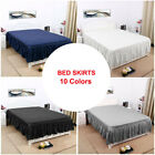 Pleated Bed Skirts Polyester Solid Dust Ruffle 14 Inch Drop image